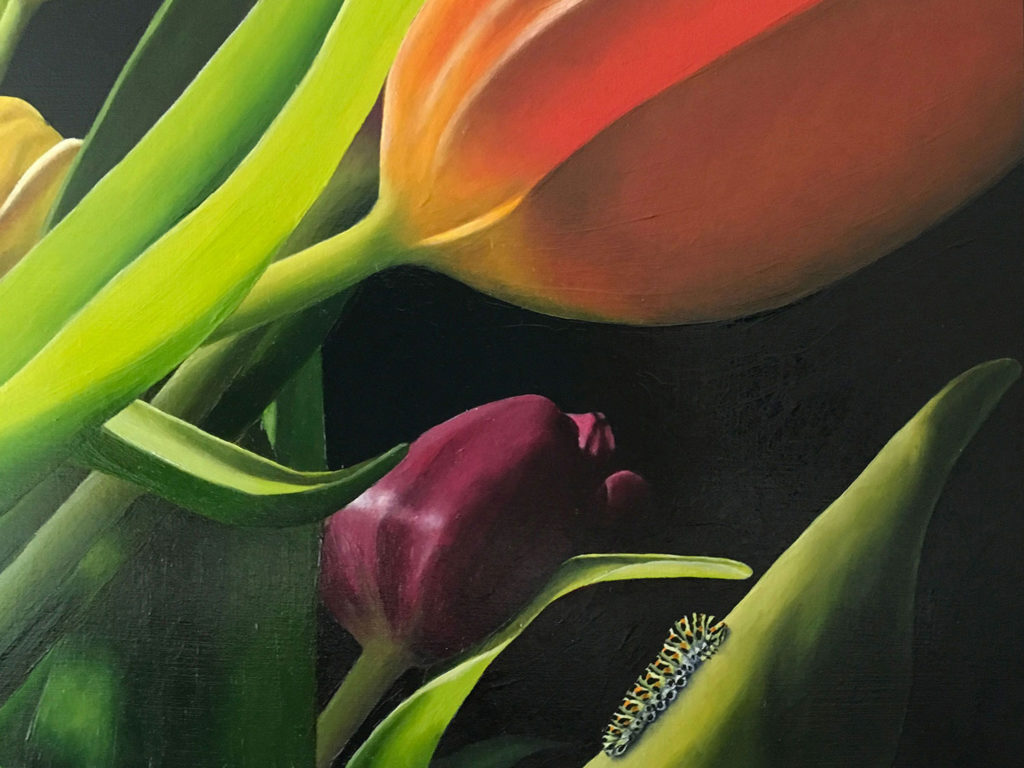 Elise Eekhout | Tulpenbos 1 detail | kunst