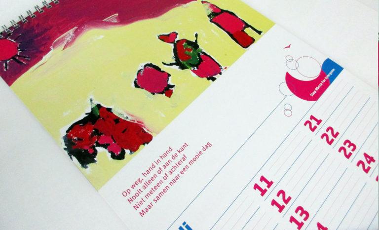 2 MAAL EE | kalender Safegroup | art project