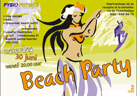 2 MAAL EE | poster beachparty